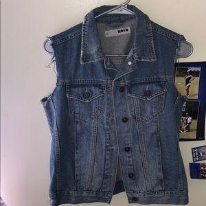 Topshop sleeveless denim jacket